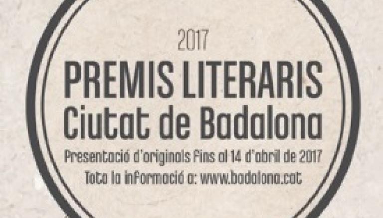 Premis Literaris Ciutat de Badalona 2017
