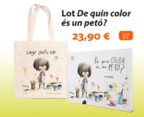 Lot De quin color és un petó?: llibre + bossa Llegir pinta bé!
