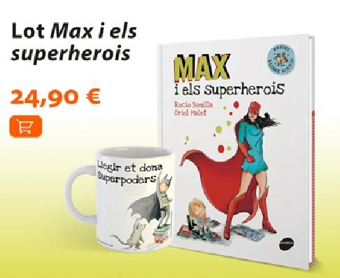 Lot Max i els superherois: llibre + tassa