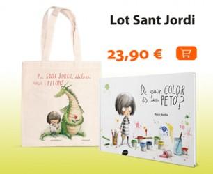 Lot Sant Jordi: llibre De quin color és un petó? + bossa Per Sant Jordi, llibres, roses i petons!