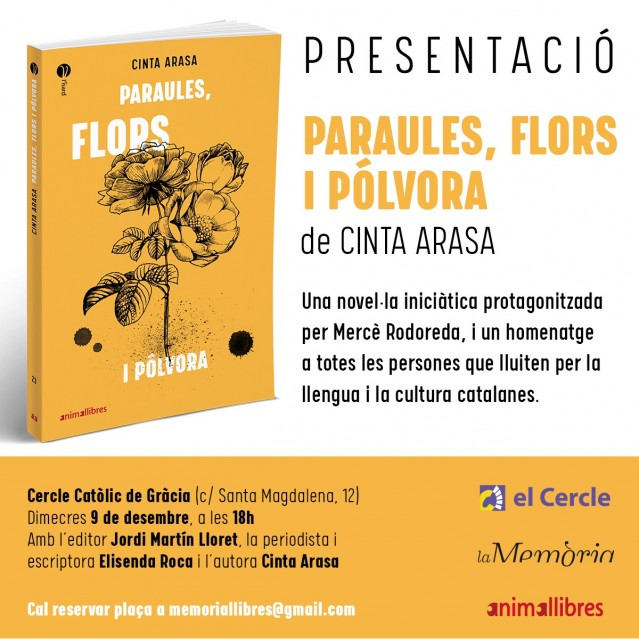 Cinta Arasa presenta la seva nova novel·la, un homenatge a Mercè Rodoreda