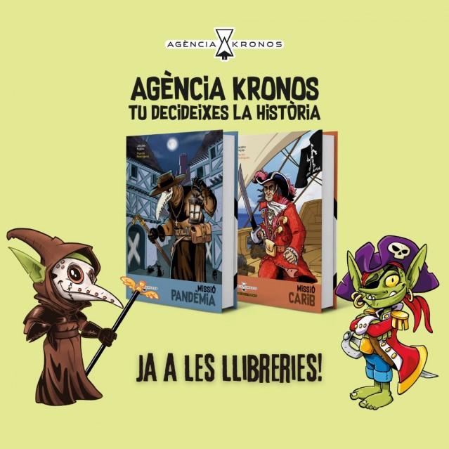 Ja a les llibreries la nova col·lecció de llibres multiaventura d'Agència Kronos. Tu decideixes la història